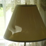 This is one of two lampshades in our bedroom that have been smashed.