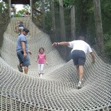 "Jason, Thavy and ""Papa"" Gary climbing to the top at Idlewild."